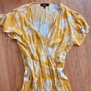 Lulu's Yellow Maxi Dress